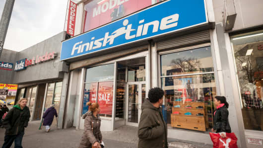 A Finish Line store in the Bronx, New York