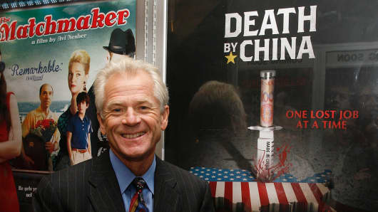 Author and Trade Advisor to President Trump, Peter Navarro attends the 'Death By China' screening on August 24, 2012 in New York City.