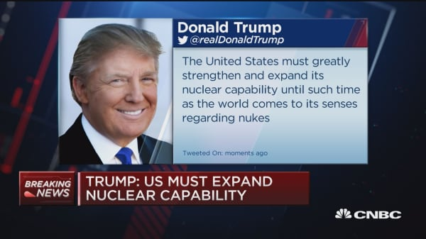 Trump: US must expand nuclear capability