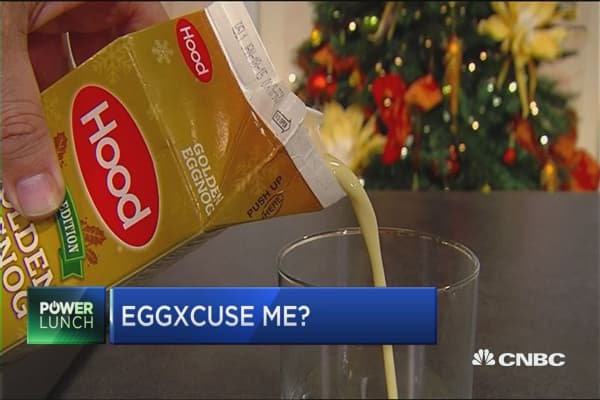 Eggnog Chugging contest at Park Christian School