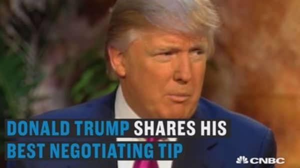 Donald Trump's best negotiating tip