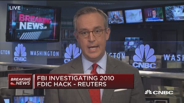 FBI investigating 2010 FDIC hack: Reuters