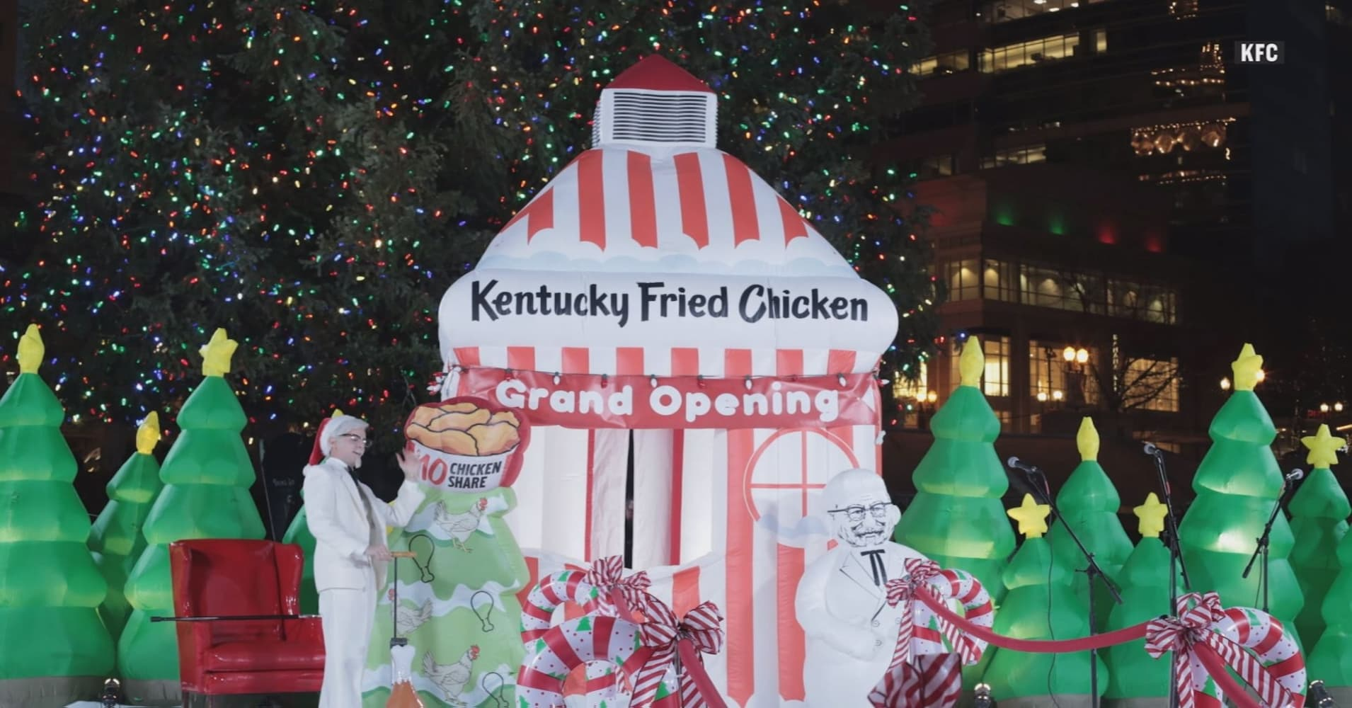 Check out the world\'s first inflatable KFC