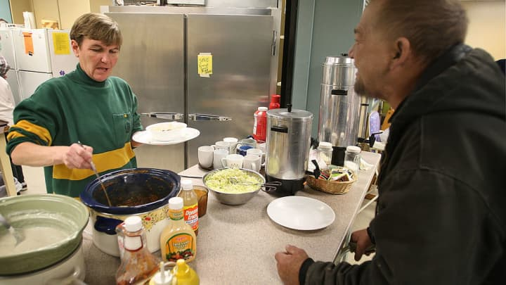 The House of Compassion soup kitchen in Marshalltown, Iowa.