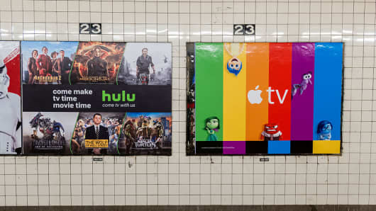Hulu ad in the subway in New York