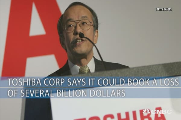 Toshiba Corp says it could book a loss of several billions