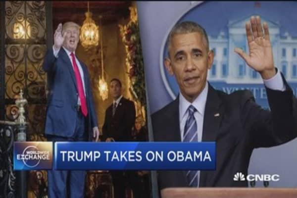 Trump takes on Obama