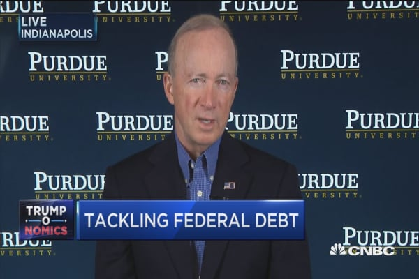 Clocks is ticking on federal debt: Mitch Daniels