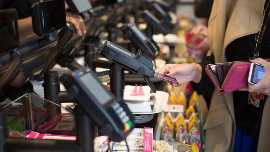 Customers Pay With Contactless Cards