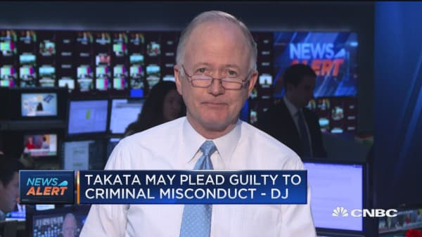 Takata may plead guilt to criminial misconduct -DJ