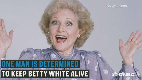 One man is set on keeping Betty White alive