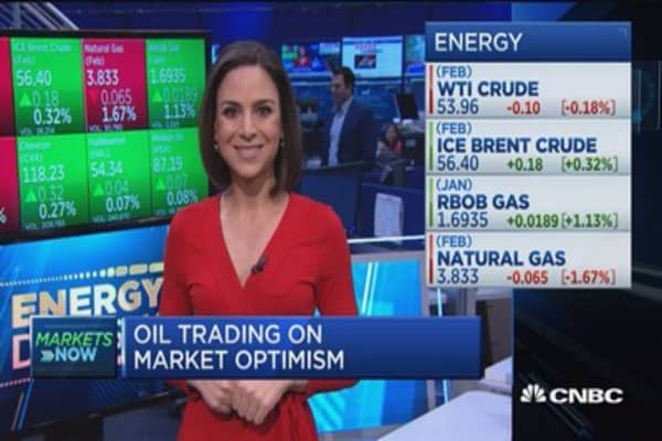 Oil trading on market optimism