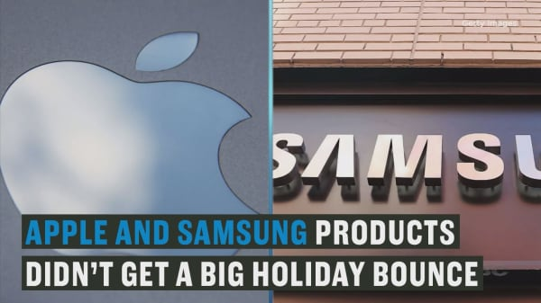 Apple, Samsung products fail to land big holiday bounce