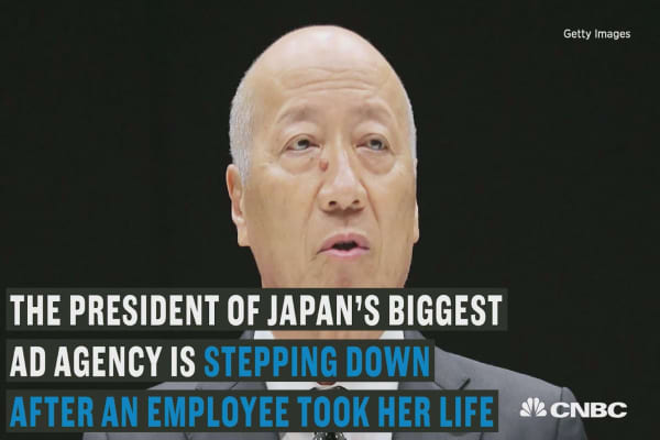 President of Japan's biggest ad agency resigns