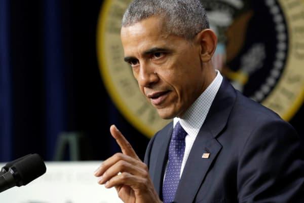 President Barack Obama delivers remarks at the White House.