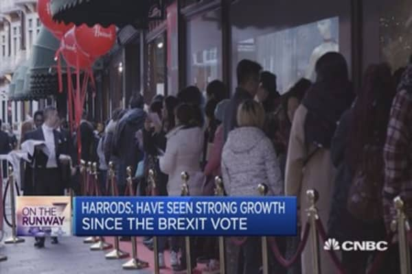 Harrods: Have seen strong growth since the Brexit vote