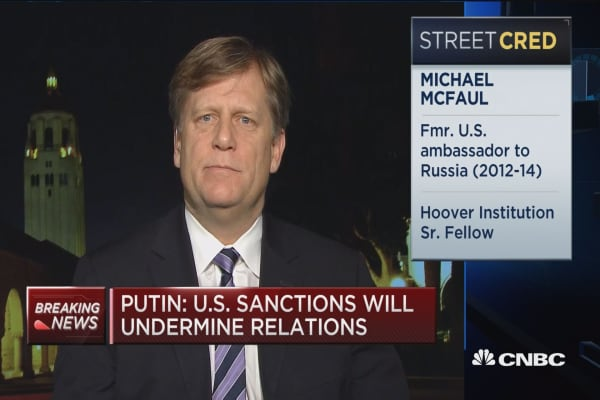McFaul: Putin putting his bets on Trump