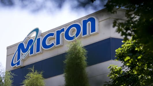 The headquarters building of Micron Technology Inc. stands in Boise, Idaho, U.S.