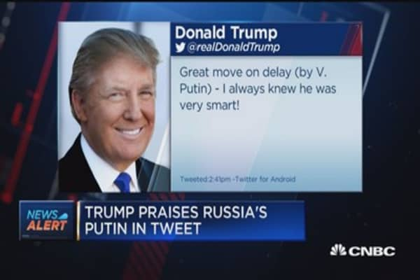 Trump praises Putin for Russian response after US sanctions
