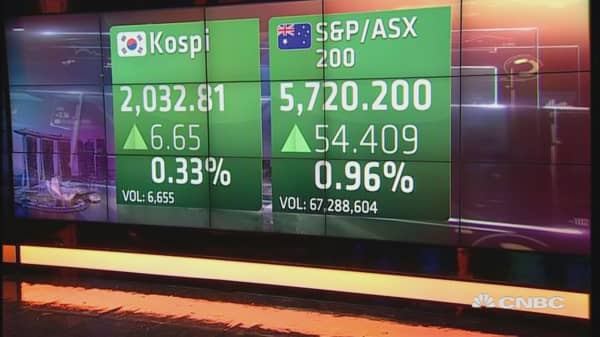 Asian markets open in the green