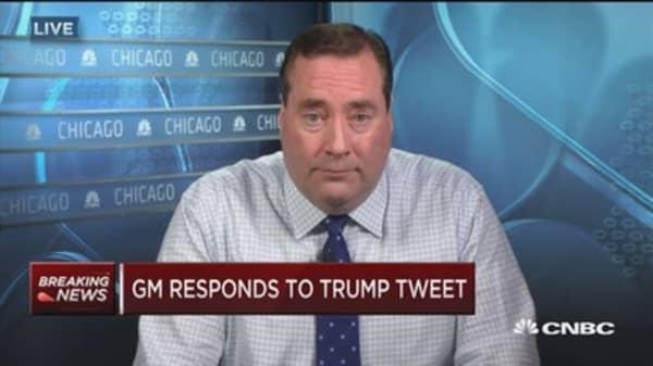GM responds to Trump tweet