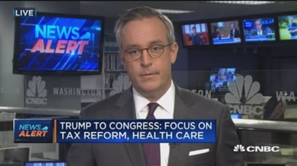 Trump to Congress: Focus on tax reform, health care