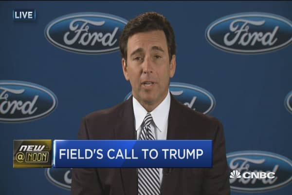 Ford CEO: Trump happy about investment in US