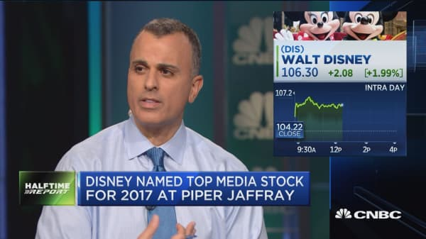 Evercore names Disney a top pick for 2017