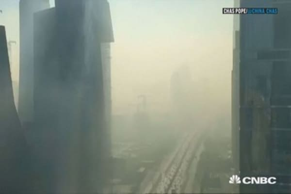 Watch Beijing get engulfed by smog in minutes
