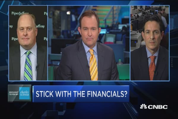 Trading Nation: Stick with the financials?