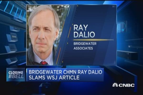 Bridgewater's Dalio slams WSJ article