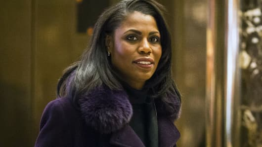Omarosa Manigault, director of African American outreach for President-elect Donald Trump, arrives at Trump Tower in New York, Dec. 13, 2016.