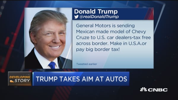 Trump takes aim at autos