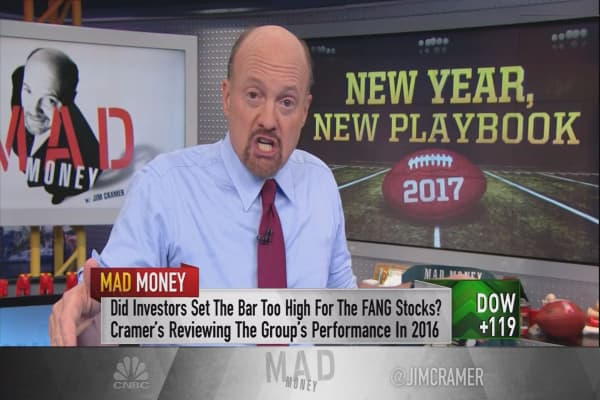 Cramer picks his top Dow stock for this year based on 2016 winners