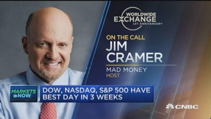 Worldwide exchange celebrates 1st anniversary with jim cramer