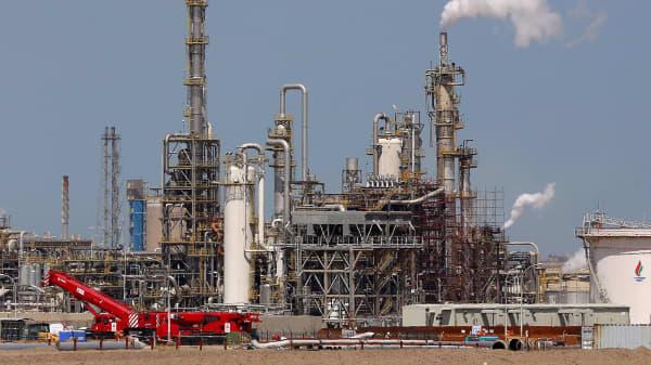Shuaiba oil refinery south of Kuwait City, Kuwait.