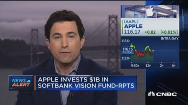 Apple invests $1B in SoftBank Vision Fund: Reports