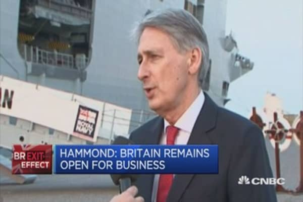UK Fin Min: Committed to defending out Gulf partners' security