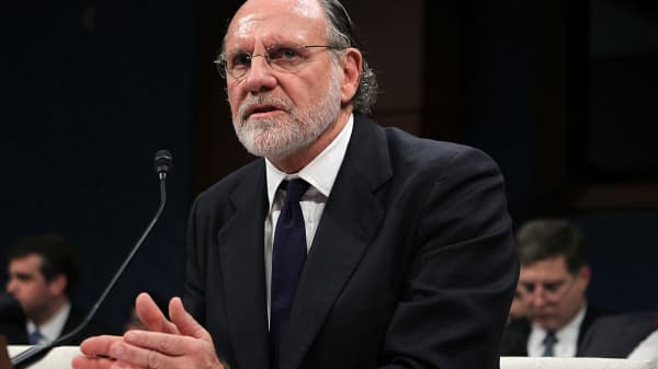 Former chairman and CEO of MF Global and former New Jersey Governor Jon Corzine testifies during a hearing before the Oversight and Investigations Subcommittee of the House Financial Services Committee December 15, 2011 on Capitol Hill in Washington, DC.