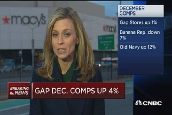 Gap December comps up 4%