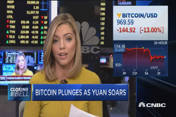 Bitcoin plunges as yuan soars