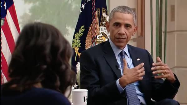 The President in an interview with Vox's Ezra Klein and Sarah Kliff to discuss the Affordable Care Act.