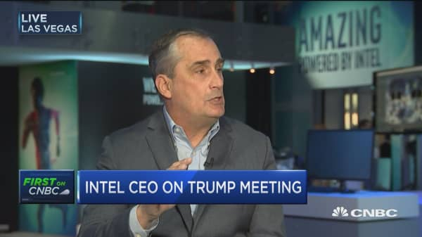 Intel CEO: Need to make the US more competitive for manufacturing