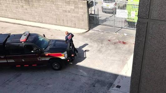 An emergency responder on scene at Fort Lauderdale as reported shots fired.