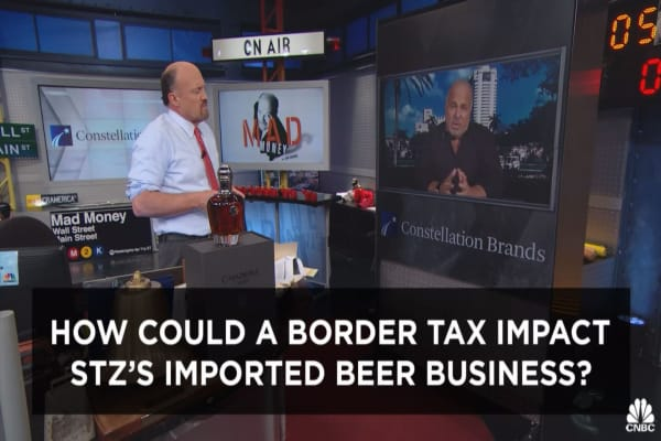 Cramer's exec cut: Trump border tax doesn't scare this Mexican brewer