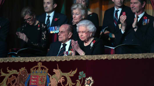 Queen Elizabeth II at the annual Royal Festival of Remembrance, Royal Albert Hall, November 2016