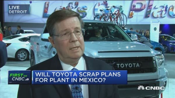 Toyota's Lebtz: We won't scrap plans for Mexico