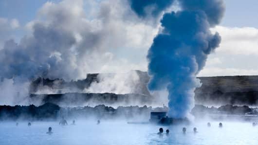 Blue Lagoon geothermal pools, near Reykjavik, Iceland