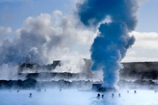 Geothermische Pools der blauen Lagune, nahe Reykjavik, Island
