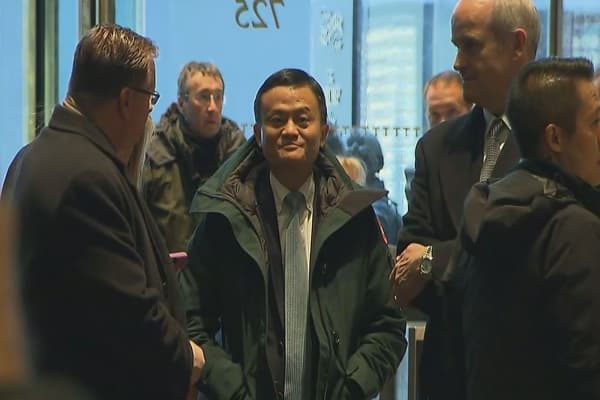 Alibaba's Jack Ma arrives at Trump Tower